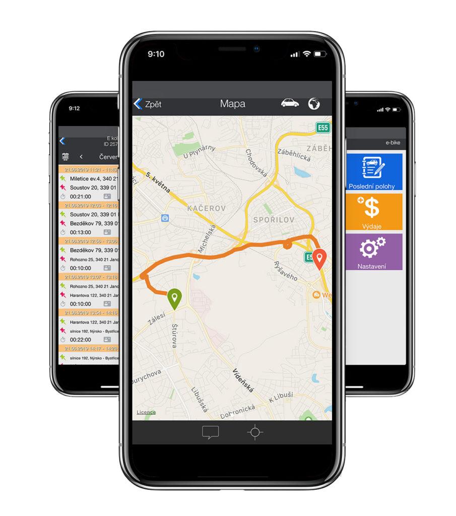 Aplikace E-bike Watch GPS